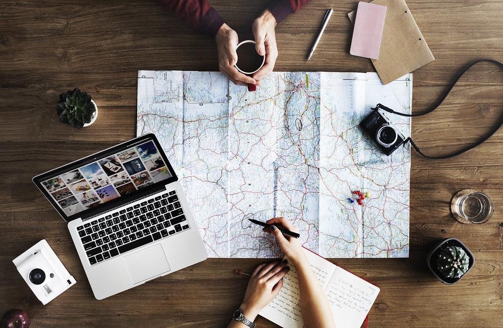 Travel Trip Map Direction Exploration Planning Concept